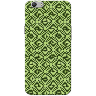 Oppo F1S Case, 3D Circles Pattern Green Slim Fit Hard Case Cover/Back Cover for OPPO F1s