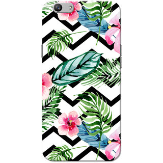Oppo F1S Case, Flower Leafs Zigzag Line Pattern Slim Fit Hard Case Cover/Back Cover for OPPO F1s