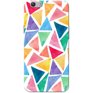 Oppo F1S Case, Triangle Pattern White Slim Fit Hard Case Cover/Back Cover for OPPO F1s