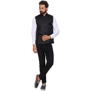 Akaas Men's Black Casual Jackets