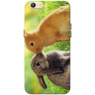 Oppo A57 Case, Rabit Love Green Slim Fit Hard Case Cover/Back Cover for Oppo A57