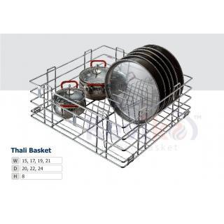 Thali kitchen basket ( 15-22-8 inches ) stainless steel basket