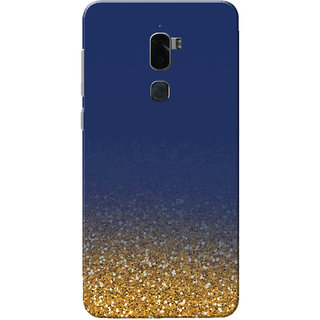 buy online 807a8 52441 Coolpad Cool 1 Case, Golden Glitter Blue Slim Fit Hard Case Cover/Back  Cover for Coolpad Cool 1