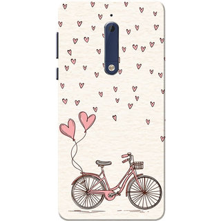 Buy Nokia 5 Case Love Cycle Pink Cream Slim Fit Hard Case Cover