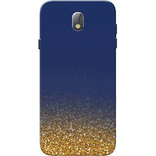 promo code 56006 2a32a Samsung J7 Pro Case, Golden Glitter Blue Slim Fit Hard Case Cover/Back  Cover for Samsung J7 Pro Case