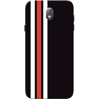 wholesale dealer 2de98 253e8 Samsung J7 Pro Case, Three Strips Red White Black Slim Fit Hard Case  Cover/Back Cover for Samsung J7 Pro Case