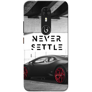 Gionee A1 Case, Never Settle Grey Slim Fit Hard Case Cover/Back Cover for Gionee A1