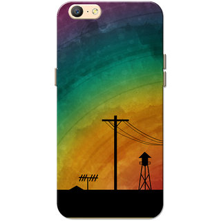 pretty nice 26cfa b45be Oppo A57 Case, Rainbow Night Slim Fit Hard Case Cover/Back Cover for Oppo  A57