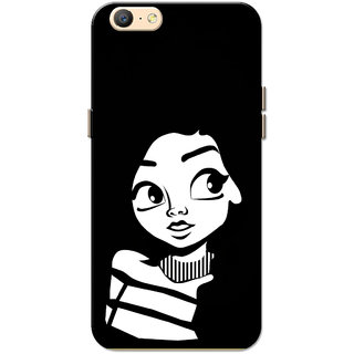 newest bc4d1 5616a Oppo A57 Case, Cute Girl White Slim Fit Hard Case Cover/Back Cover for Oppo  A57