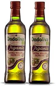 Ondoliva Organic Extra Virgin Olive Oil 500 ml Pack of 2