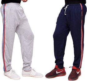 Combo Of Cotton Pyjamas For Men(Navy And Grey)