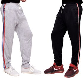 Combo Of Cotton Pyjamas For MenBlack And Grey