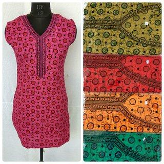 Pure cotton trendy short kurtis