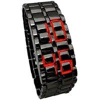 Samurai Led Black Steel Watch - Unisex