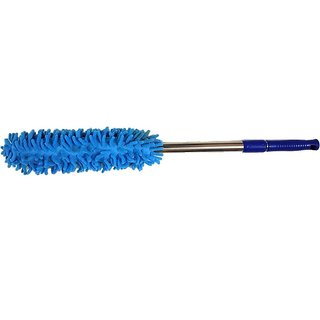 Pin to Pen Microfibre Wet and Dry Broom (Blue Steel Pack of 1)