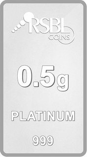 RSBL Ecoins 0.5 Gram 999 Platinum Bar