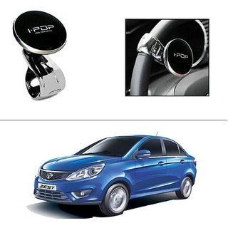 AutoStark i-Pop Black Big Size Car Steering Wheel Power Holder Knob For Tata Zest
