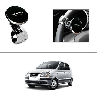 AutoStark i-Pop Black Big Size Car Steering Wheel Power Holder Knob For Hyundai Santro Xing