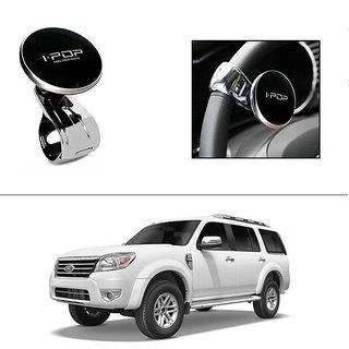AutoStark i-Pop Black Big Size Car Steering Wheel Power Holder Knob For Ford Endeavour