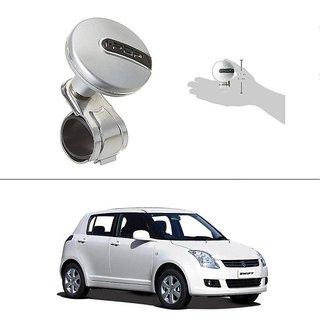 AutoStark i-Pop Car Steering Wheel Power Holder Knob Spinner (Silver) For Maruti Suzuki Swift