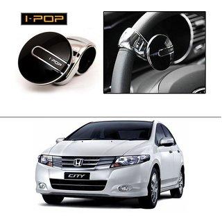 AutoStark i-Pop Car Steering Wheel Power Holder Knob Spinner (Black) For Honda City i-VTEC