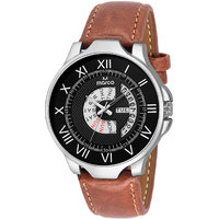 MARCO Black Dial Brown Strap Men's Day N Date Watch