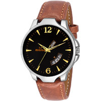 MARCO Black Dial Brown Strap Men's Day N Date Watch - 130400775