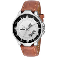 MARCO White Dial Brown Strap Men's Day N Date Watch