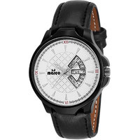 MARCO White Dial Black Strap Men's Day N Date Watch - 130400803