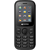 Micromax X372 Dual SIM Basic Phone (Black Red)