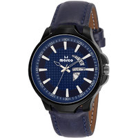 MARCO Blue Dial Blue Strap Men's Day N Date Watch