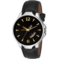 MARCO Black Dial Black Strap Men's Day N Date Watch