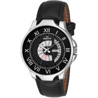 MARCO Black Dial Black Strap Men's Day N Date Watch - 130400857