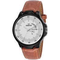 MARCO White Dial Brown Strap Men's Day N Date Watch - 130400896