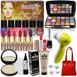 Laperla Hot Beauty Combo Makeup Sets With Eye Massager,Facial Kit ,Eyeshadow Etc