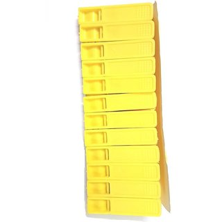 Pin to Pen V Series 2.7 Inch Plastic Cloth Clip (Set of 12 Yellow)