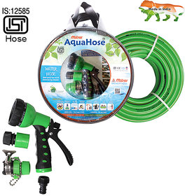 AquaHose Water Hose Set Green 7.5mtr  12.5mm ID  Hose Pipe