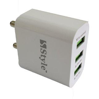Hi-Speed Turbo 3 USB Port Fast Charger Adaptor with EZ251