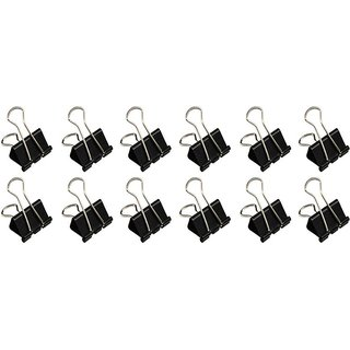 Pin to Pen P2P 19 MM Steel Binder Clip (Set of 12 Black Steel)