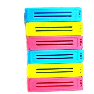 Pin to Pen Food Bag Sealer 6 Plastic manual (Set of 6 Multicolor)