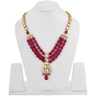 Tistabene Retails Traditional Beaded Kundan Meena Designer Stylish Fancy Party Wear Necklace For Women  Girls (NE-0013)