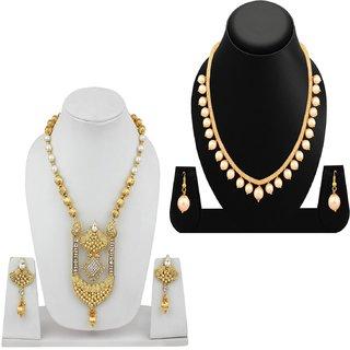 Jewels Guru Exclusive Golden White Combo Set m9