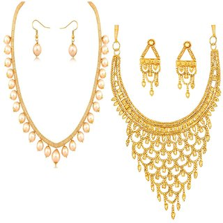 Jewels Guru Exclusive Golden White Combo Set m10