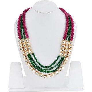 Tistabene Retails Traditional Beaded Kundan Meena Designer Stylish Fancy Party Wear Necklace For Women  Girls (NE-0014)