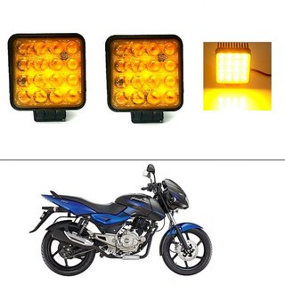 AutoStark 2pcs 48W Square Led Work Light Waterproof  Led light Flood Beam Spotlight  For Bajaj Pulsar 150 DTS-i