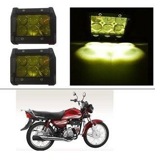 AutoStark 18W Car LED Work Light Bar 12V Spot Yellow 4D Lens DRL  Fog Light  For Honda CD