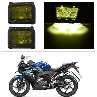 AutoStark 18W Car LED Work Light Bar 12V Spot Yellow 4D Lens DRL  Fog Light  For Honda CBR 150R