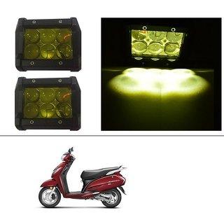 AutoStark 18W Car LED Work Light Bar 12V Spot Yellow 4D Lens DRL  Fog Light  For Honda Activa 125