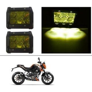AutoStark 18W Car LED Work Light Bar 12V Spot Yellow 4D Lens DRL  Fog Light  For KTM Duke 200