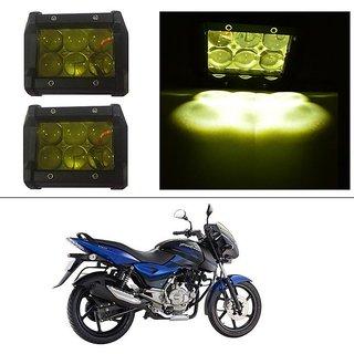 AutoStark 18W Car LED Work Light Bar 12V Spot Yellow 4D Lens DRL  Fog Light  For Bajaj Pulsar 150